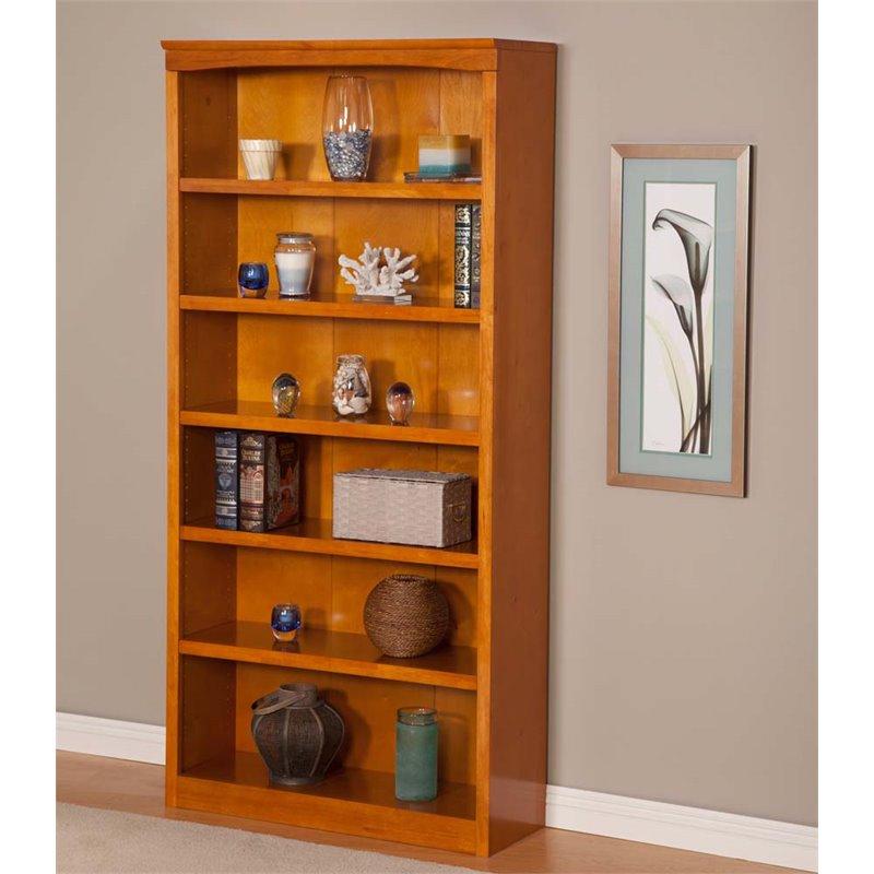 """Atlantic Furniture 72 Inch Bookcase In Caramel Latte – H 80067 Within Latest 72"""" L Breakroom Tables And Chair Set (View 9 of 15)"""