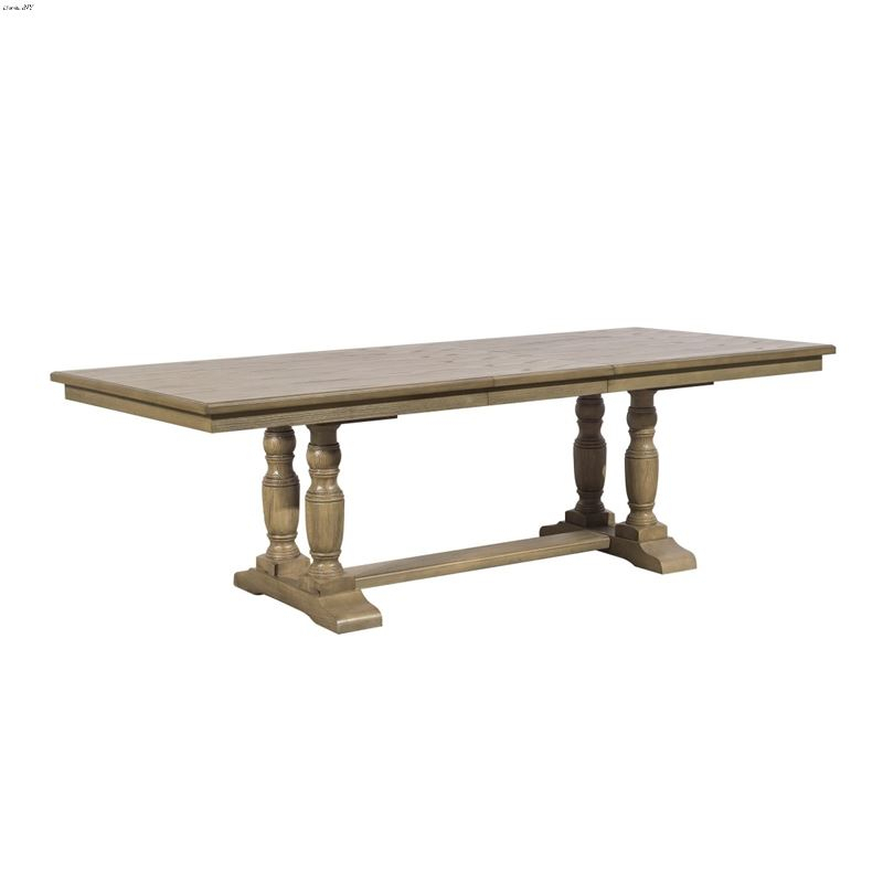 Avignon Double Pedestal Trestle Dining Table 5545 112 Within Current Alexxes 38'' Trestle Dining Tables (View 3 of 15)