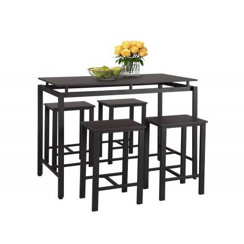 B Home 5 Piece Counter Height Table Set/Dining Table With For Most Up To Date Isak  (View 13 of 15)