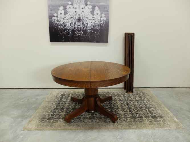 """B & S Tables 48"""" Round Mission Oak Pedestal Dining Table Intended For Most Current Tabor 48'' Pedestal Dining Tables (View 8 of 15)"""