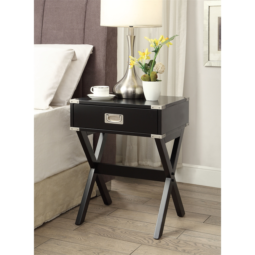 Babs End Table, Black Pertaining To Newest Collis Round Glass Breakroom Tables (View 5 of 15)
