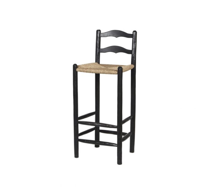 Bar Stool Ladderback Black Pibast – Mavromac And The Gatehouse Pertaining To Most Current Kayleigh (View 3 of 15)