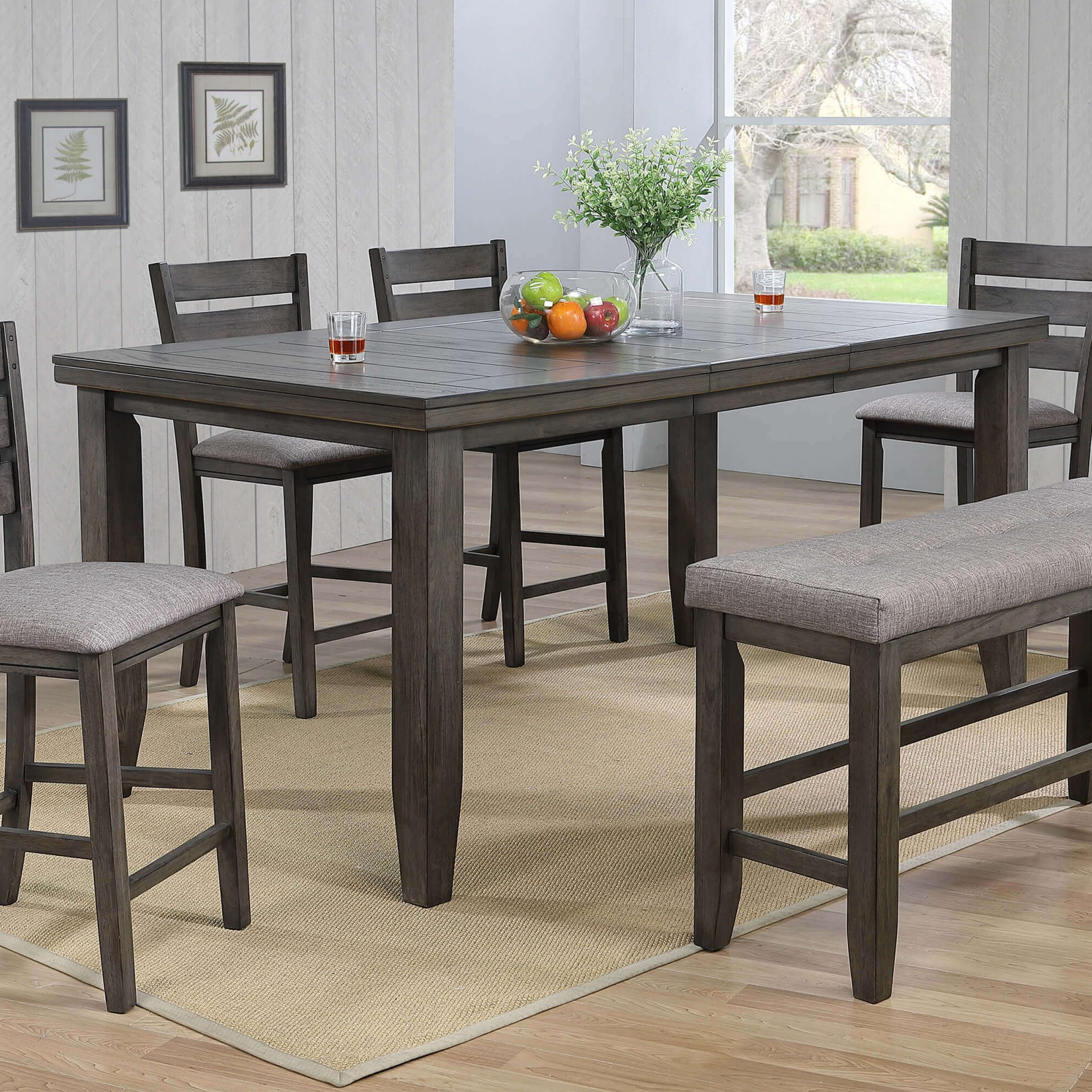 Bardstown Grey Counter Height Set | Dining Room Sets Intended For 2018 Counter Height Dining Tables (View 15 of 15)