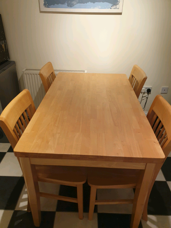 Barker & Stonehouse Solid Pine Dining Table & 6 Chairs Within Best And Newest Reagan Pine Solid Wood Dining Tables (View 6 of 15)