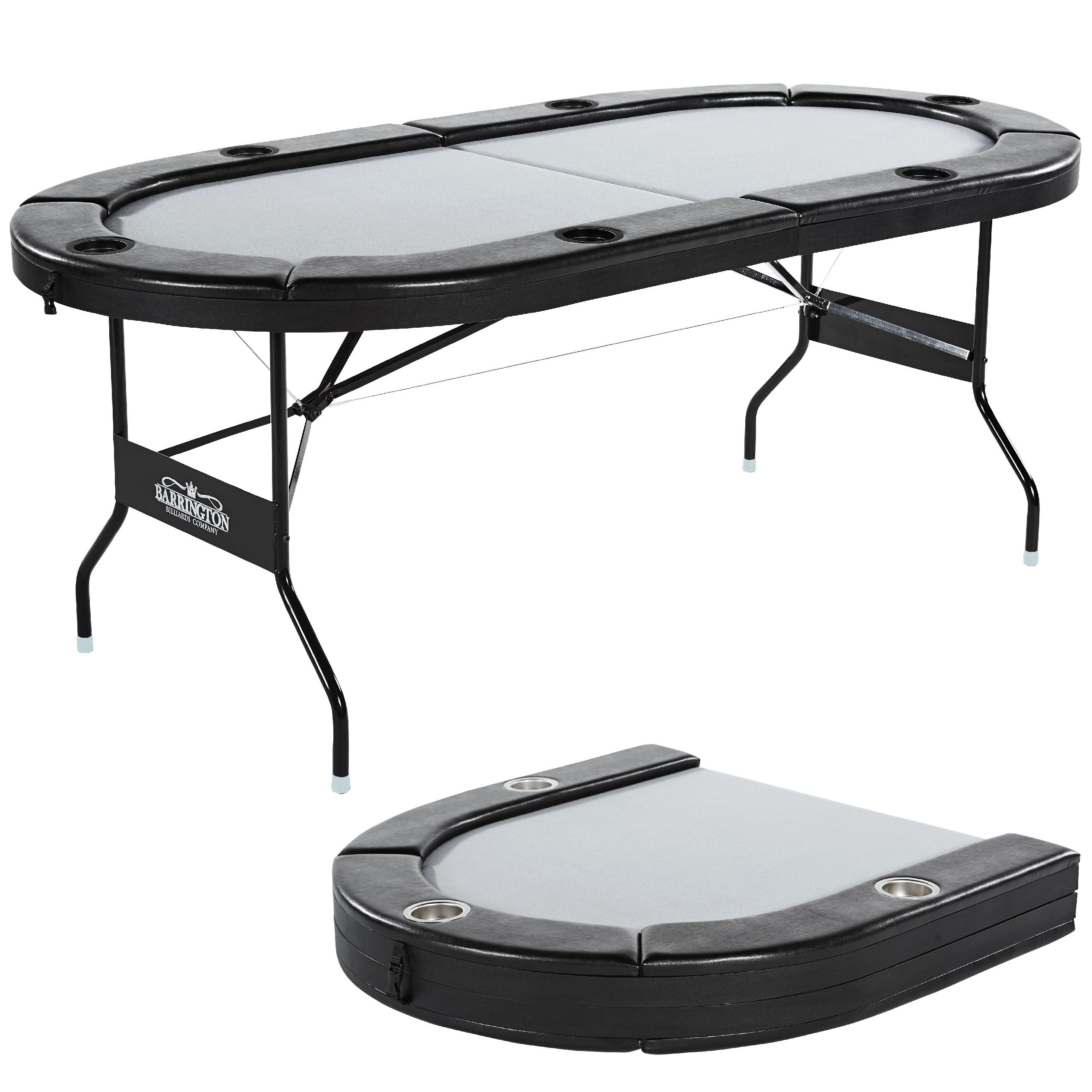 """Barrington Foldable 6 Player Poker Table, 100% Pre Regarding Newest 48"""" 6 – Player Poker Tables (View 3 of 15)"""