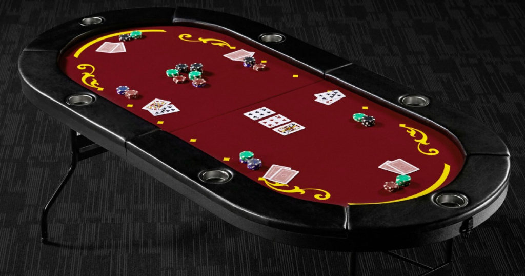 """Barrington Foldable 6 Player Poker Table $70 Shipped (Reg Intended For Latest 48"""" 6 – Player Poker Tables (View 14 of 15)"""