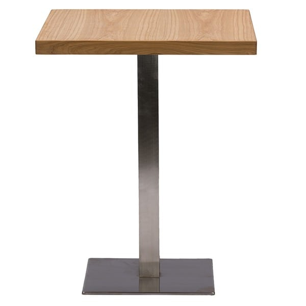 Baxton Studio Owen 24 Inch Square Natural Top Chrome Base Inside Most Recently Released Adsila 24'' Dining Tables (Photo 13 of 15)