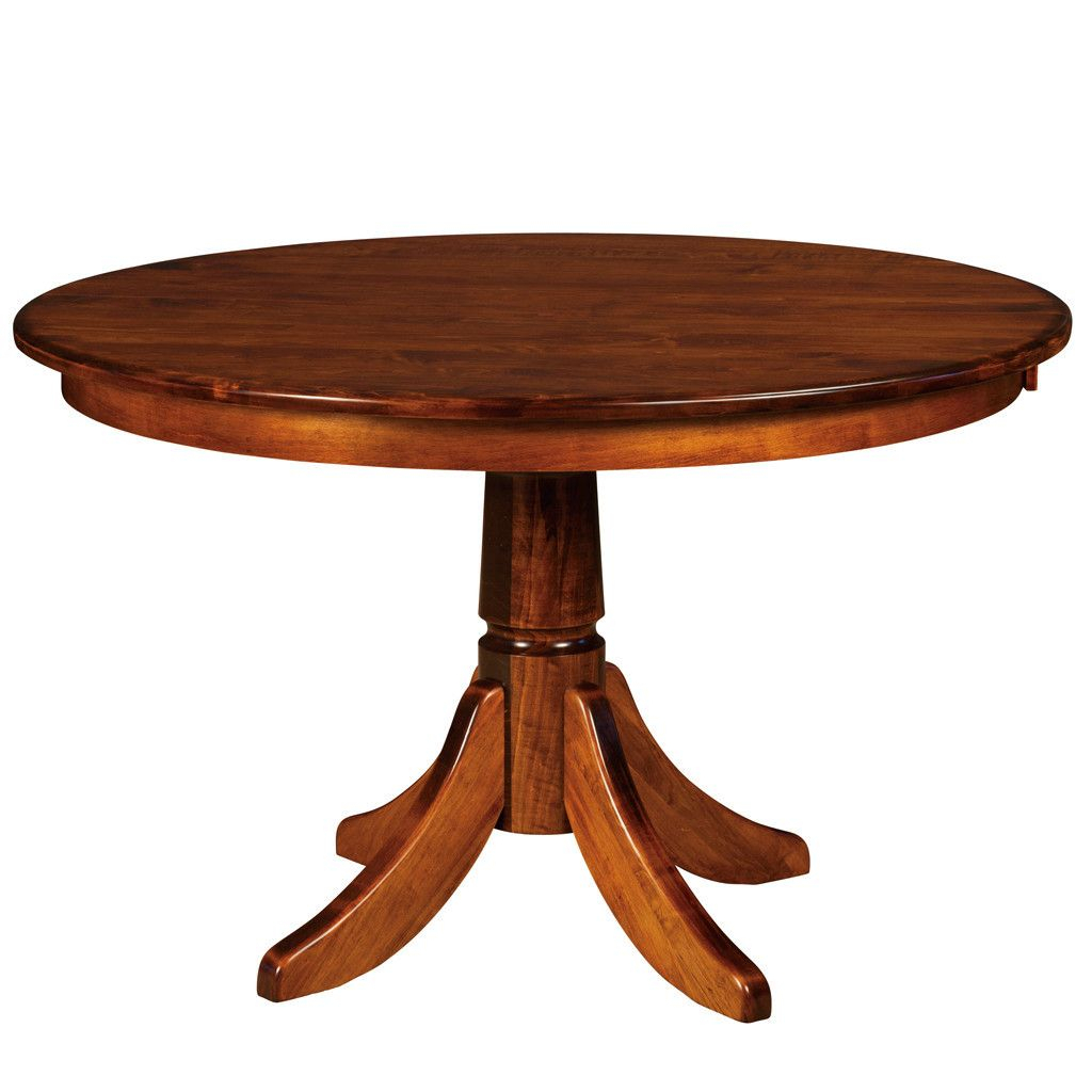 Baytown Single Pedestal Extension Table | Dining Table Inside Latest Gaspard Extendable Maple Solid Wood Pedestal Dining Tables (View 3 of 15)
