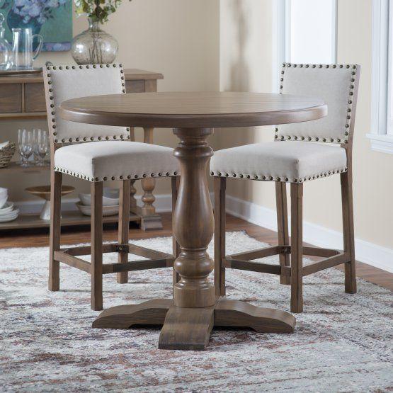 Belham Living Kennedy Round Counter Height 42 In Regarding 2018 Bushrah Counter Height Pedestal Dining Tables (View 3 of 15)