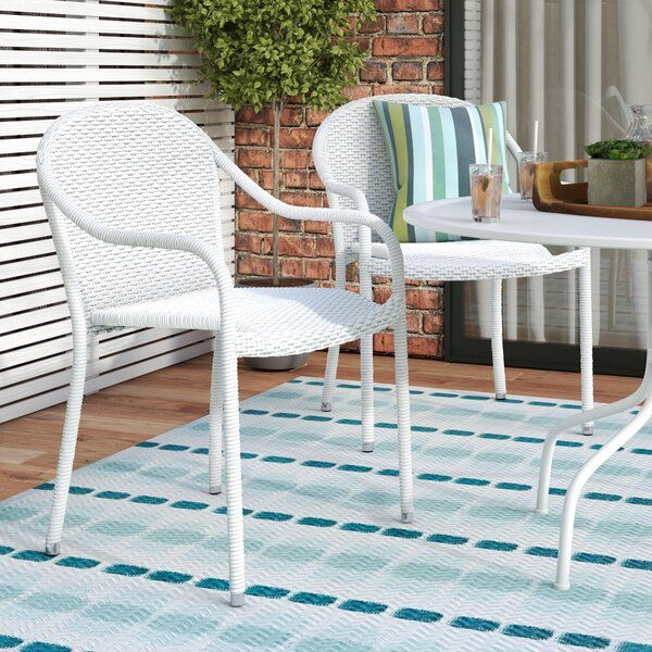 Belton Stacking Patio Dining Chair In 2020 | Patio Rocking In Current Belton Dining Tables (View 9 of 15)