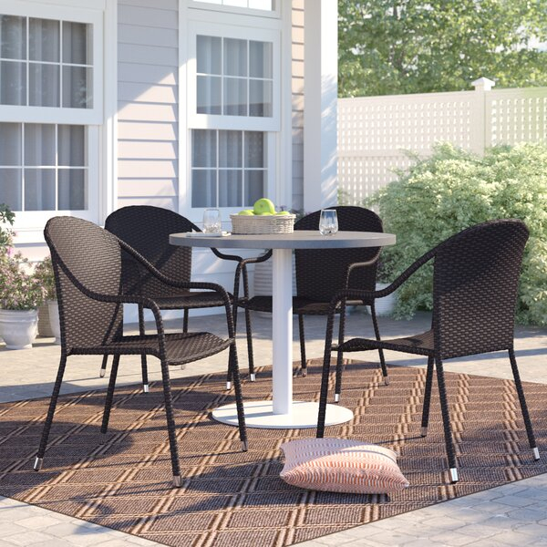 Belton Stacking Patio Dining Chair & Reviews | Allmodern Regarding Newest Belton Dining Tables (View 6 of 15)