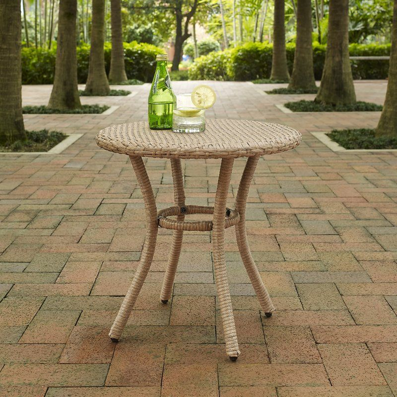 Belton Wicker Side Table | Round Side Table, Outdoor Inside Most Current Belton Dining Tables (View 10 of 15)