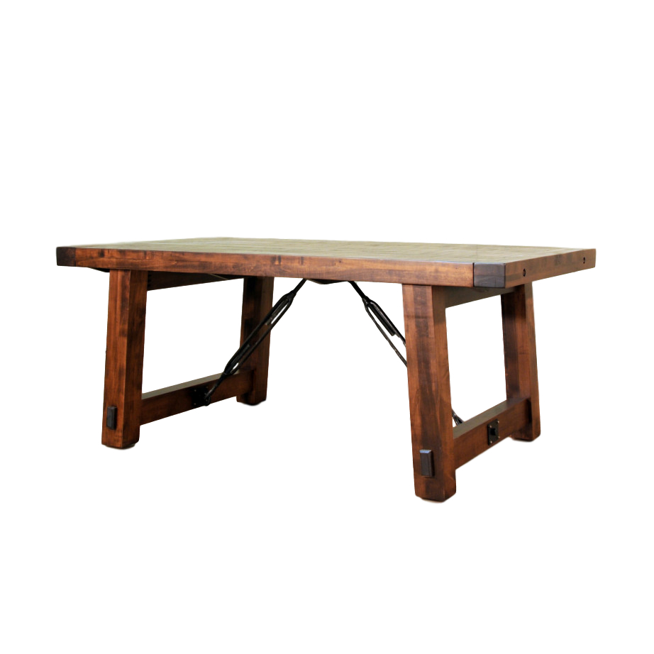 Benchmark Trestle Table – Prestige Solid Wood Furniture With Best And Newest Gaspard Extendable Maple Solid Wood Pedestal Dining Tables (View 15 of 15)
