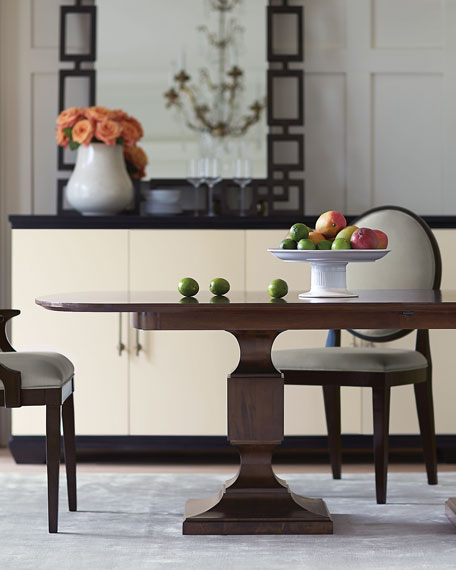 Bernhardt Haven Double Pedestal Dining Table In 2020 (With Throughout Most Recently Released Steven 55'' Pedestal Dining Tables (View 5 of 15)