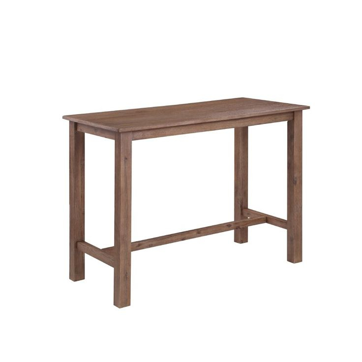 Birch Lane™ Heritage Allister Counter Height Rubberwood For Latest Wes Counter Height Rubberwood Solid Wood Dining Tables (View 2 of 15)
