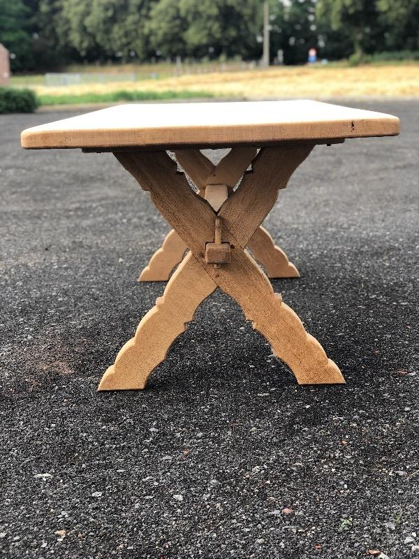 Bleached Oak Farmhouse Table With X Legs – Dining Tables For Latest Nottle (View 4 of 15)