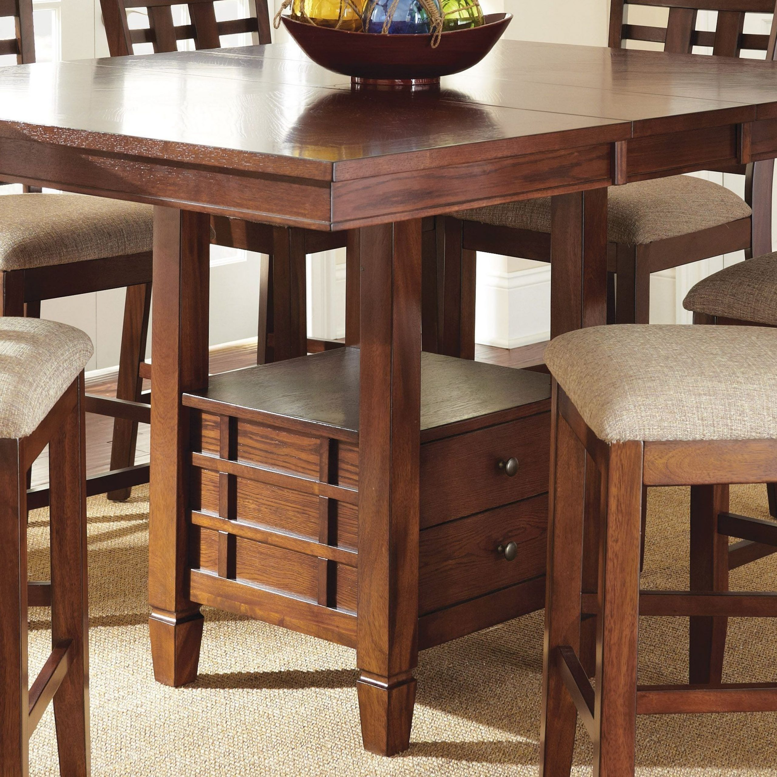 Bolton Extendable Square Counter Height Storage Dining With Most Current Dallin Bar Height Dining Tables (View 11 of 15)