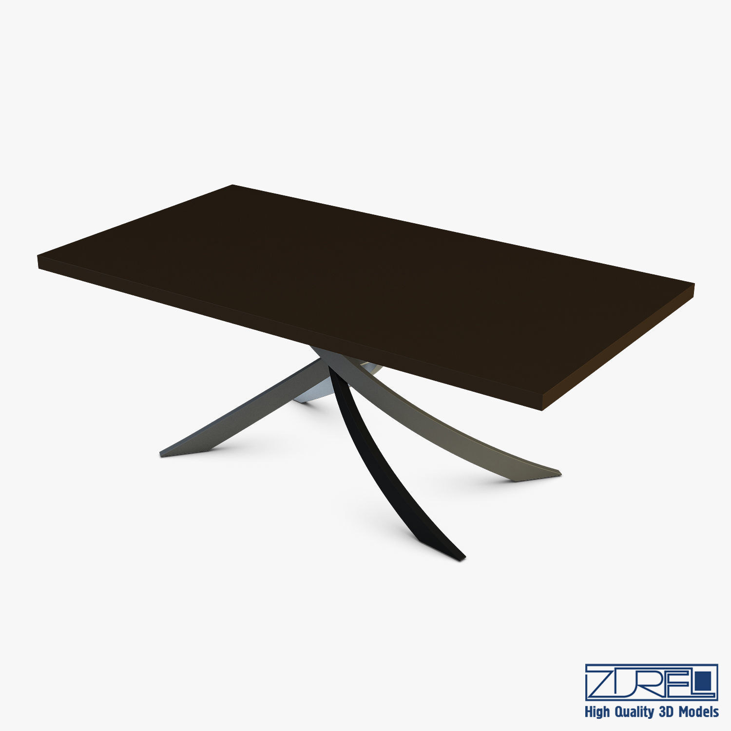 Bontempi Artistico Fixed Dining Table 3D Model Max Obj Fbx Within Most Popular Yaqub 39'' Dining Tables (View 15 of 15)