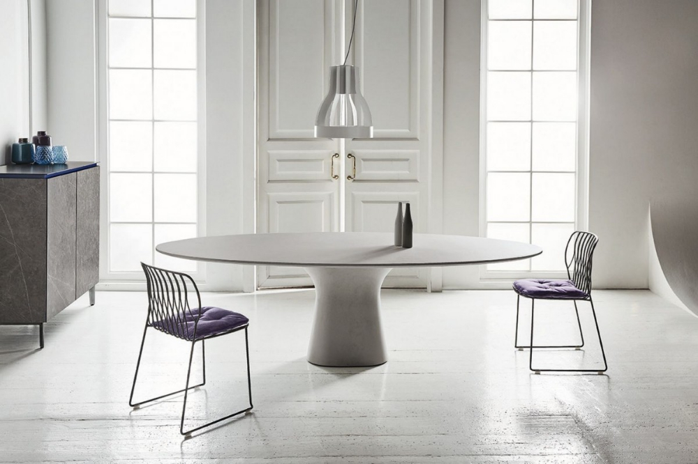 Bontempi Podium Oval Dining Table (With Images) | Oval With Regard To Best And Newest 49'' Dining Tables (View 5 of 15)
