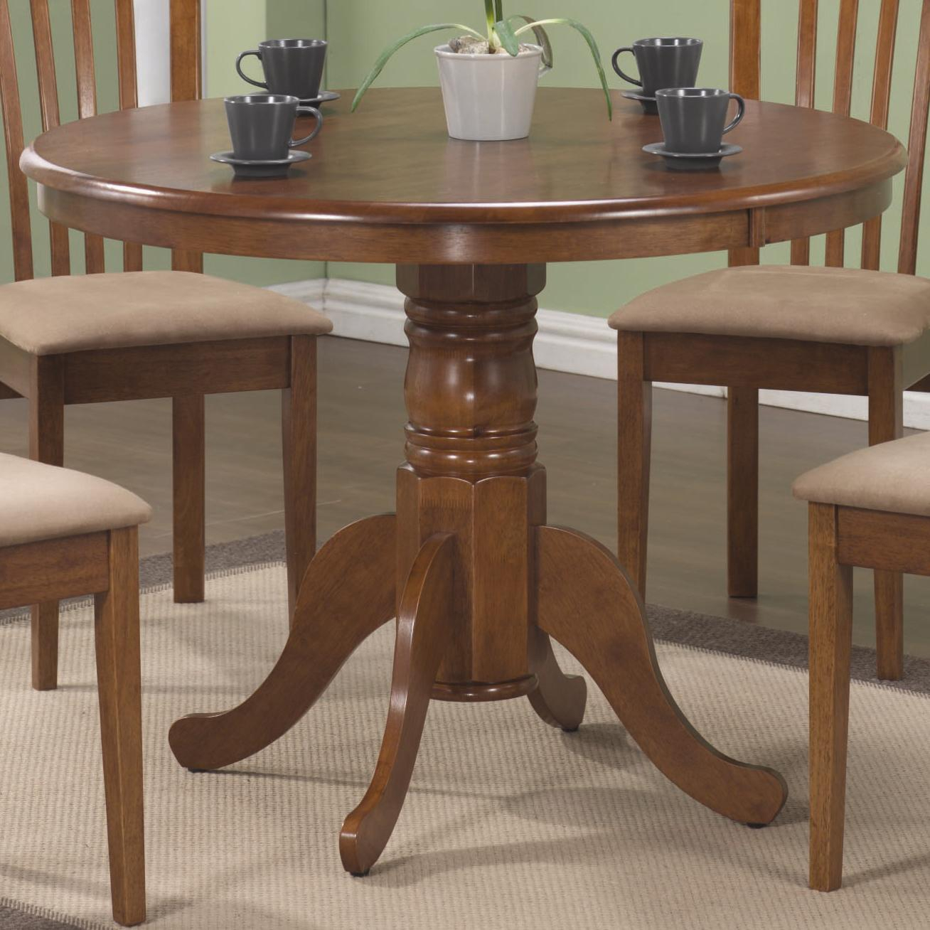 Brannan Round Single Pedestal Dining Table | Quality Within 2018 Jazmin Pedestal Dining Tables (View 6 of 15)