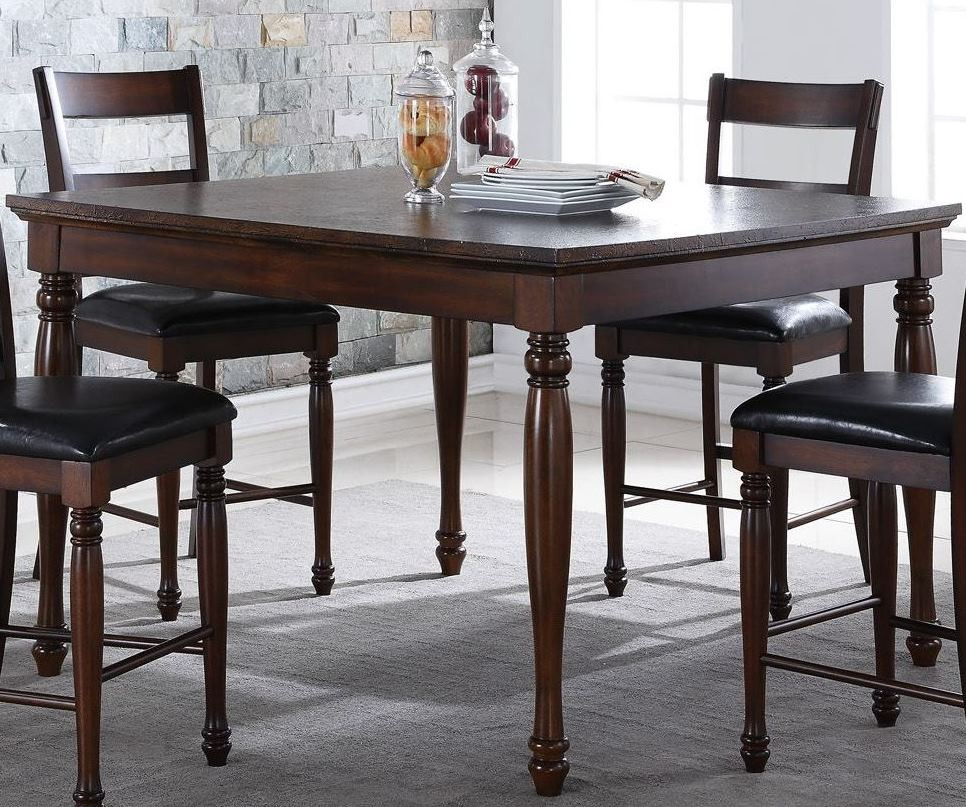 """Breckenridge 54"""" Brown Counter Height Dining Table, Zbrg With Newest Abby Bar Height Dining Tables (View 2 of 15)"""
