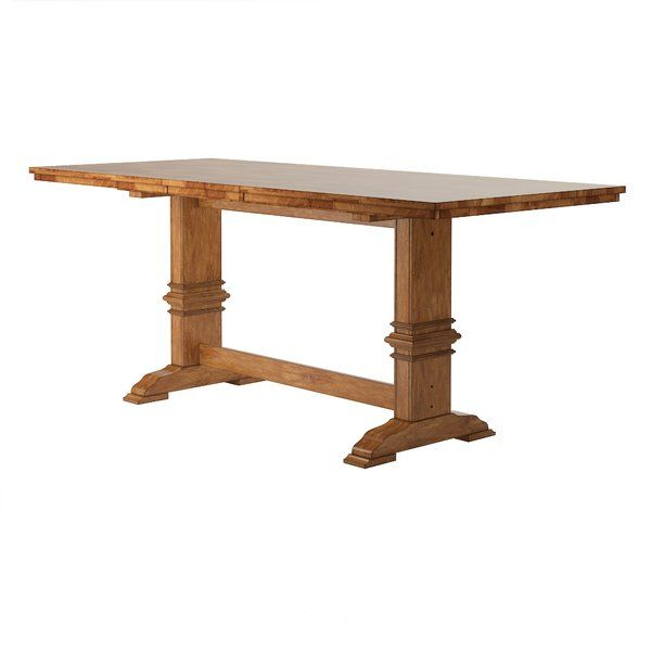 Brierfield Counter Height Extendable Oak Solid Wood Dining Intended For 2018 Charterville Counter Height Pedestal Dining Tables (View 13 of 15)