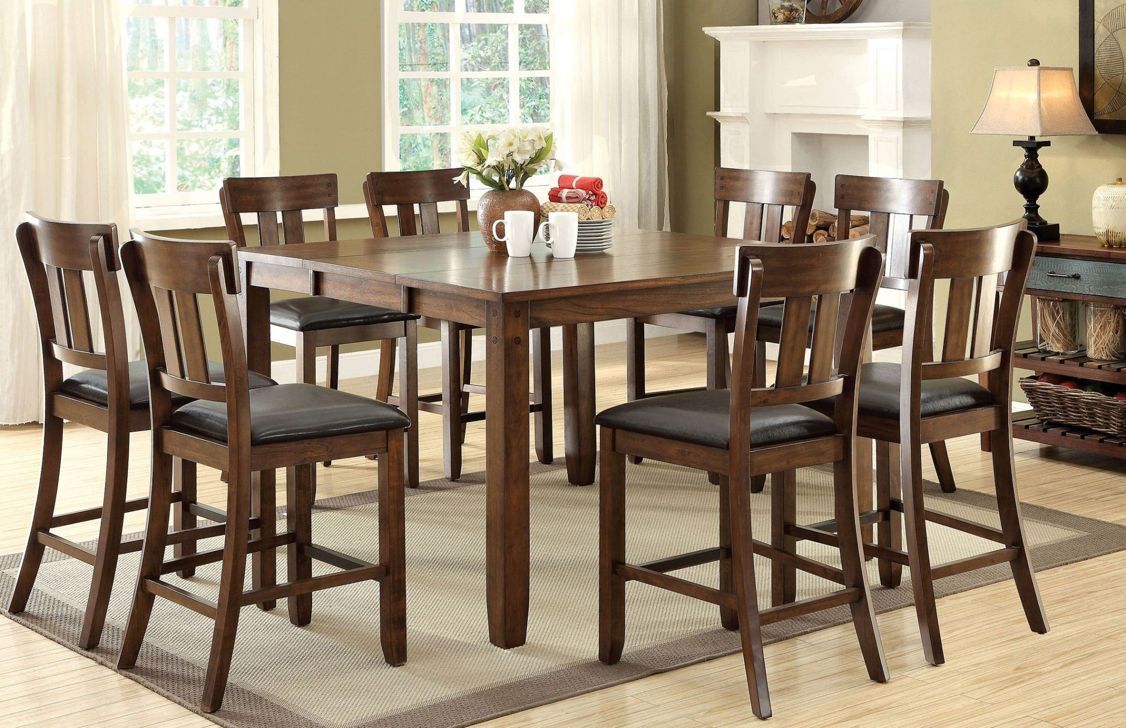 Brockton Ii Rustic Oak Extendable Counter Height Dining Regarding 2017 Counter Height Extendable Dining Tables (View 9 of 15)