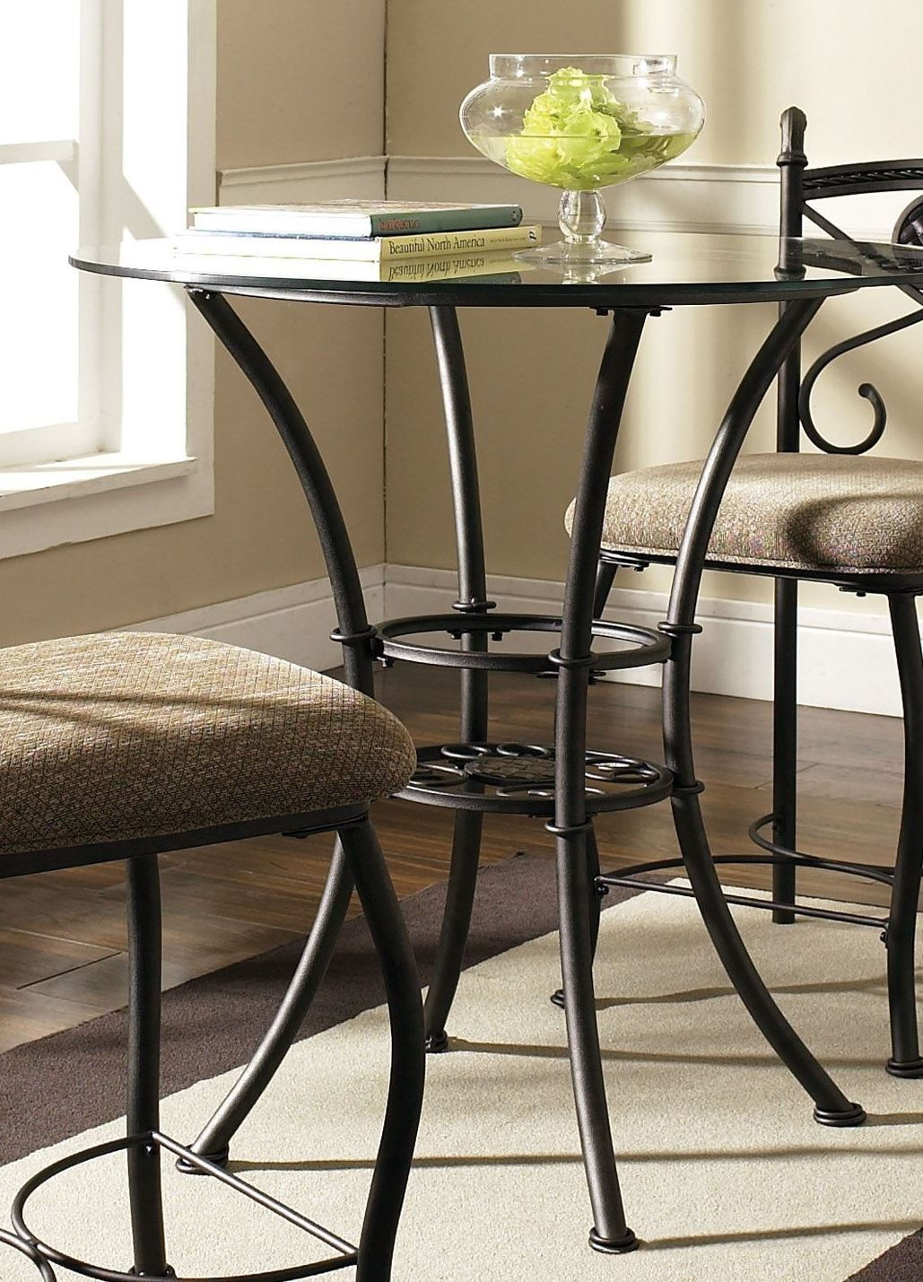 Brookfield Glass Round Counter Height Dining Table From In Newest Counter Height Dining Tables (View 11 of 15)