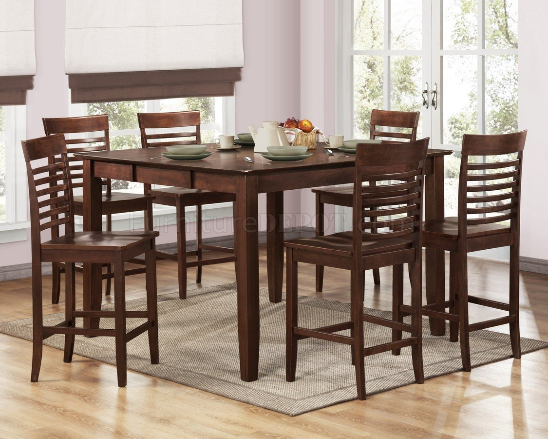 Brown Espresso Modern Counter Height Dining Table W/Options With Regard To Current Shoaib Counter Height Dining Tables (Photo 9 of 15)