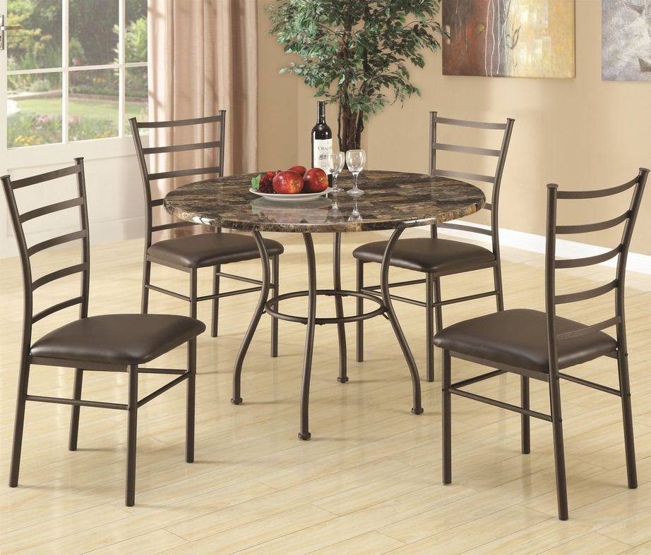 Brown Metal Dining Table And Chair Set – Steal A Sofa With Newest Isak  (View 15 of 15)