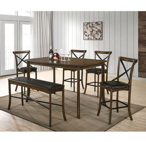 Buhl Ii Burnished Oak Counter Height Dining Table In Most Recently Released Overstreet Bar Height Dining Tables (View 5 of 15)