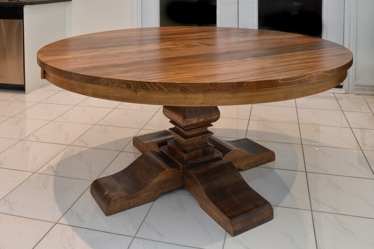 Built In Canada Solid Wood Round Table » Anne Quinn Furniture In Most Up To Date Drake Maple Solid Wood Dining Tables (View 9 of 15)