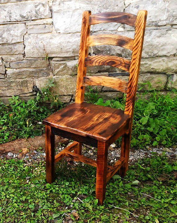 Burnt Oak Reclaimed Wood Arched Slat Rustic Dining Chairs Intended For Most Up To Date Nottle (View 2 of 15)
