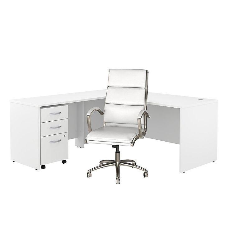 "Bush Business Furniture Studio C 72 ""W Schreibtisch In L Inside Recent 72"" L Breakroom Tables And Chair Set (View 15 of 15)"