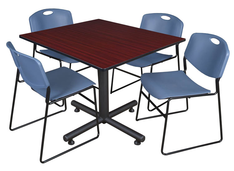 Buy Cheap 48″ Square Breakroom Table  Mahogany & 4 Zeng Within Best And Newest Mode Square Breakroom Tables (View 14 of 15)