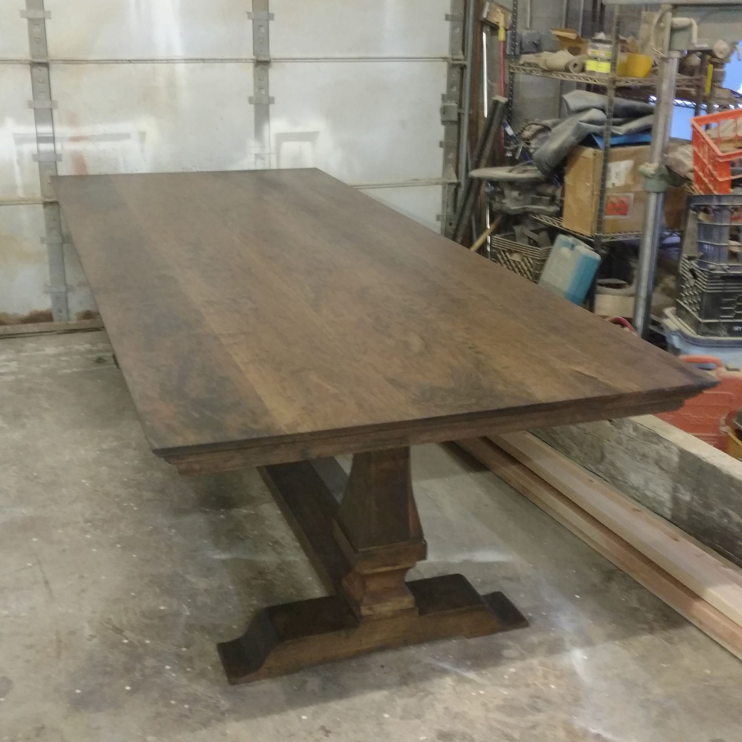 Buy Custom Tuscan Pedestal Table In Cherry, Made To Order Throughout Most Up To Date Larkin  (View 11 of 15)