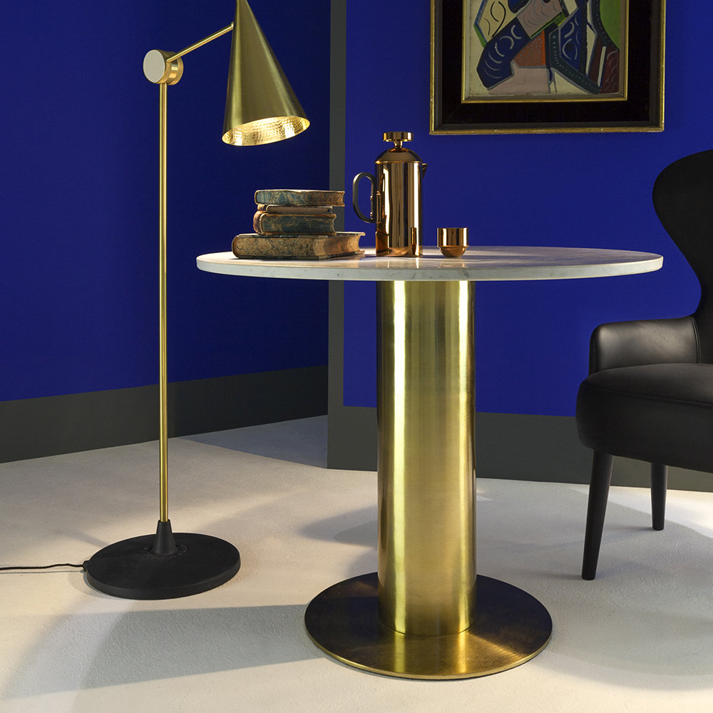 Buy Tom Dixon Tube Dining Table – Brass | Amara For Best And Newest Dixon 29'' Dining Tables (View 12 of 15)