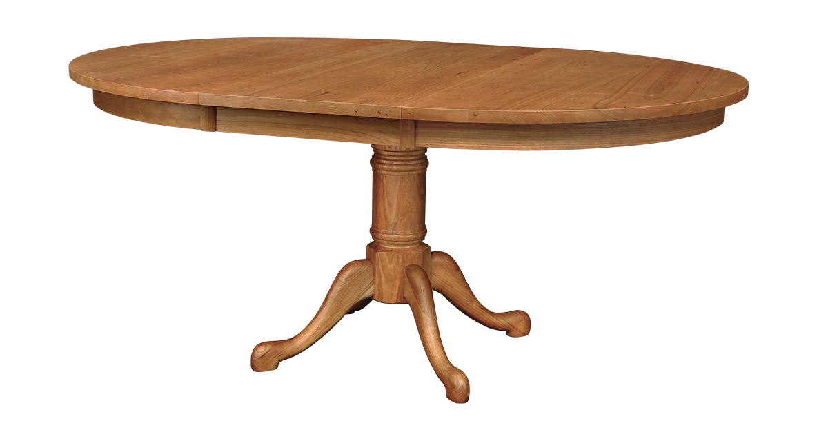 Cabriole Single Pedestal Extension Dining Table Regarding Most Up To Date Gaspard Extendable Maple Solid Wood Pedestal Dining Tables (View 4 of 15)