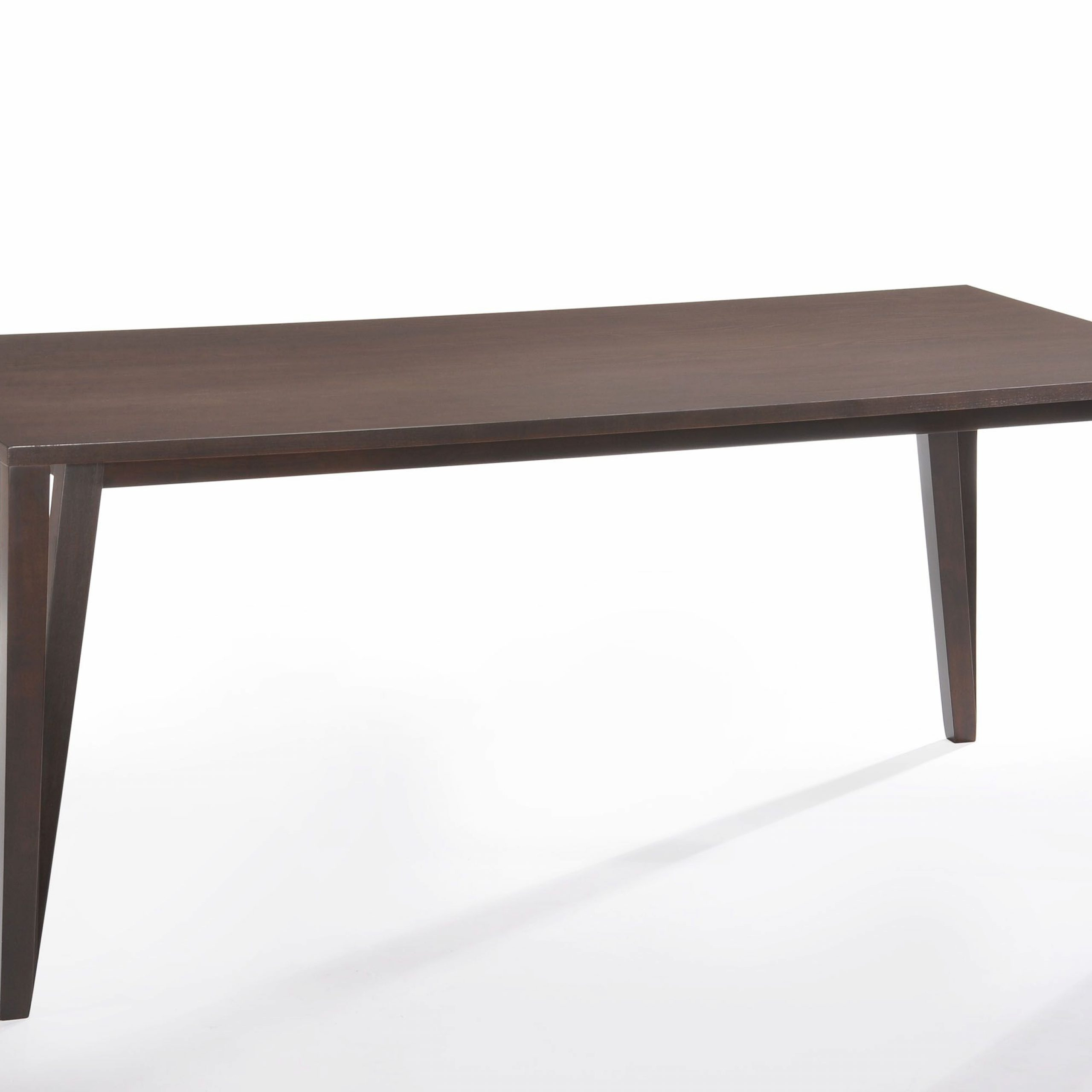 Cafe501 Rubber Wood Rectangle Dining Table Color: Wenge Intended For Best And Newest Wes Counter Height Rubberwood Solid Wood Dining Tables (View 8 of 15)