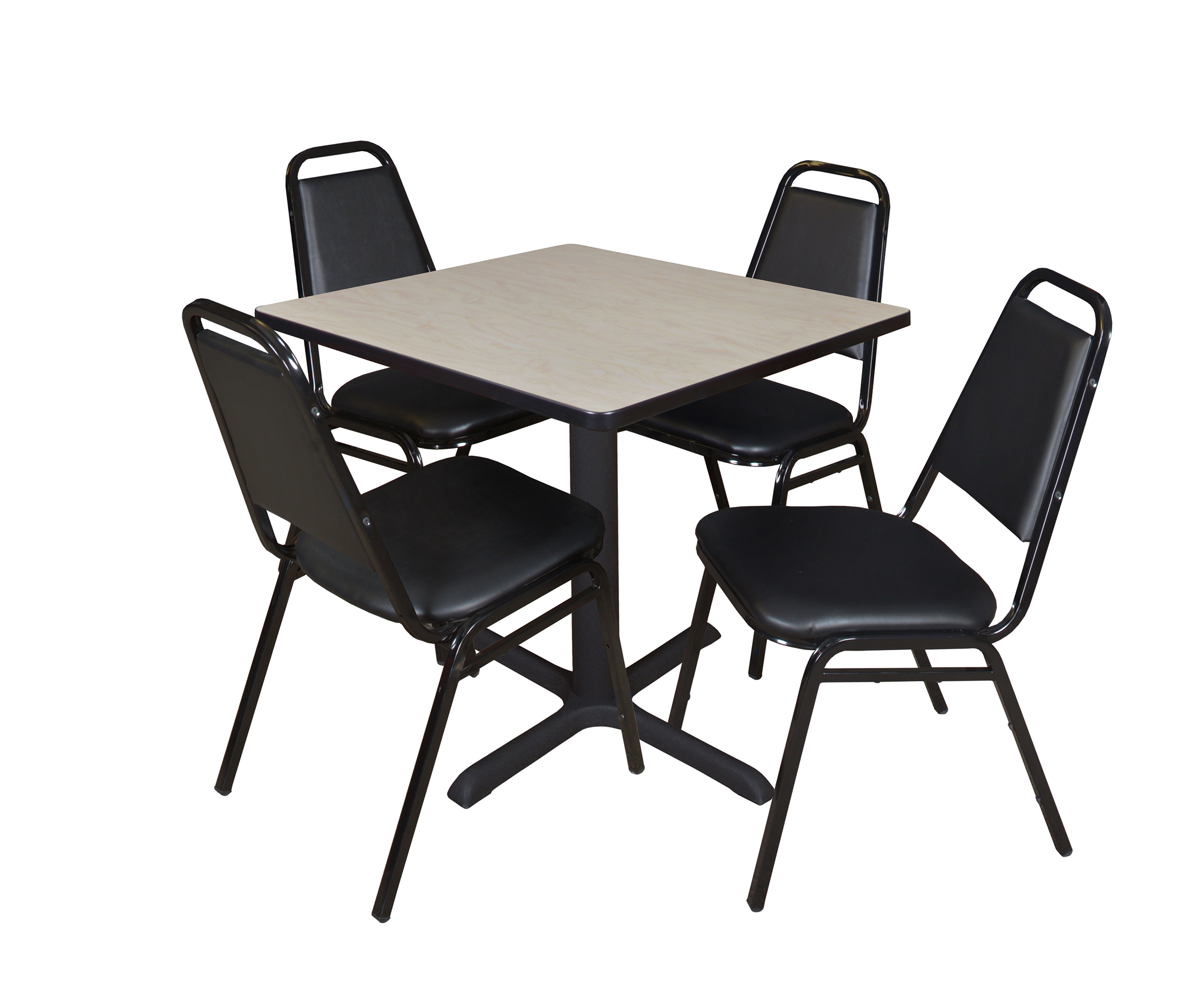 """Cain 30"""" Square Breakroom Table  Maple & 4 Restaurant Inside Most Up To Date Mode Square Breakroom Tables (View 3 of 15)"""