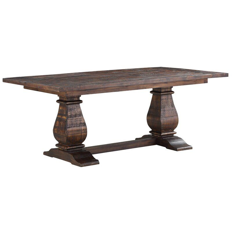 Calila Acacia Solid Wood Dining Table (With Images Inside Best And Newest Folcroft Acacia Solid Wood Dining Tables (View 9 of 15)