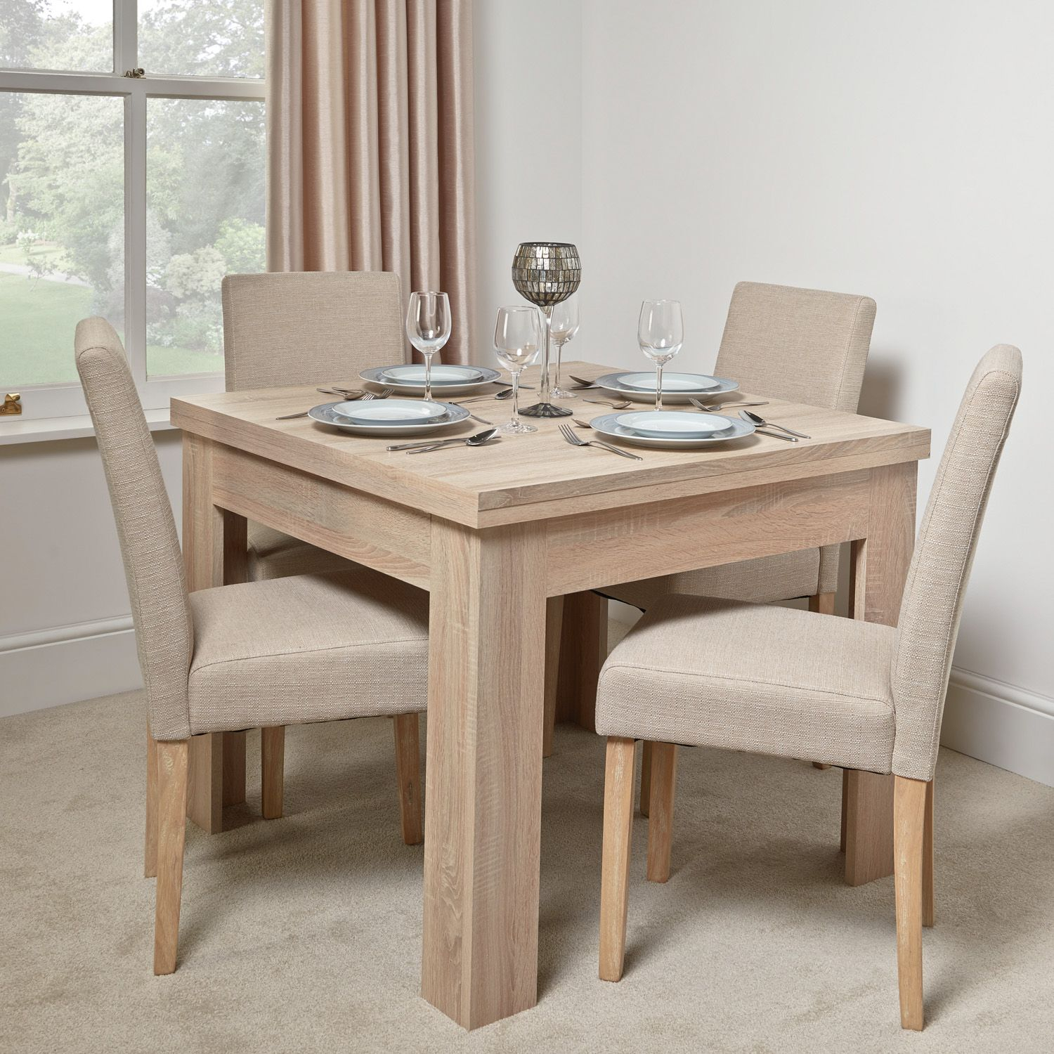 Calpe Flip Top Table | The Range | Extendable Dining Table With Current Crilly  (View 14 of 15)