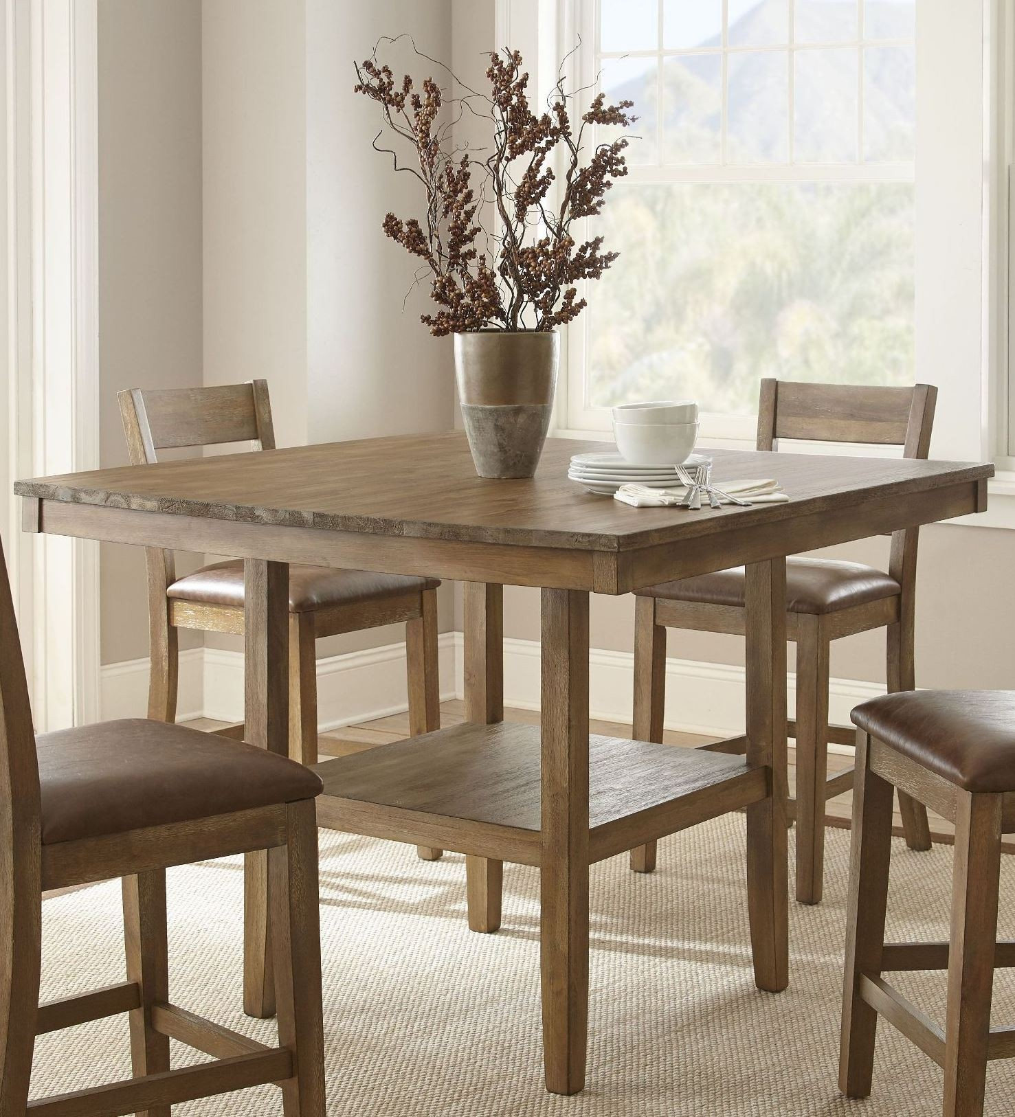 Cambrey Rustic Honey Counter Height Dining Table, Cb700Pt Regarding Best And Newest Eduarte Counter Height Dining Tables (View 5 of 15)
