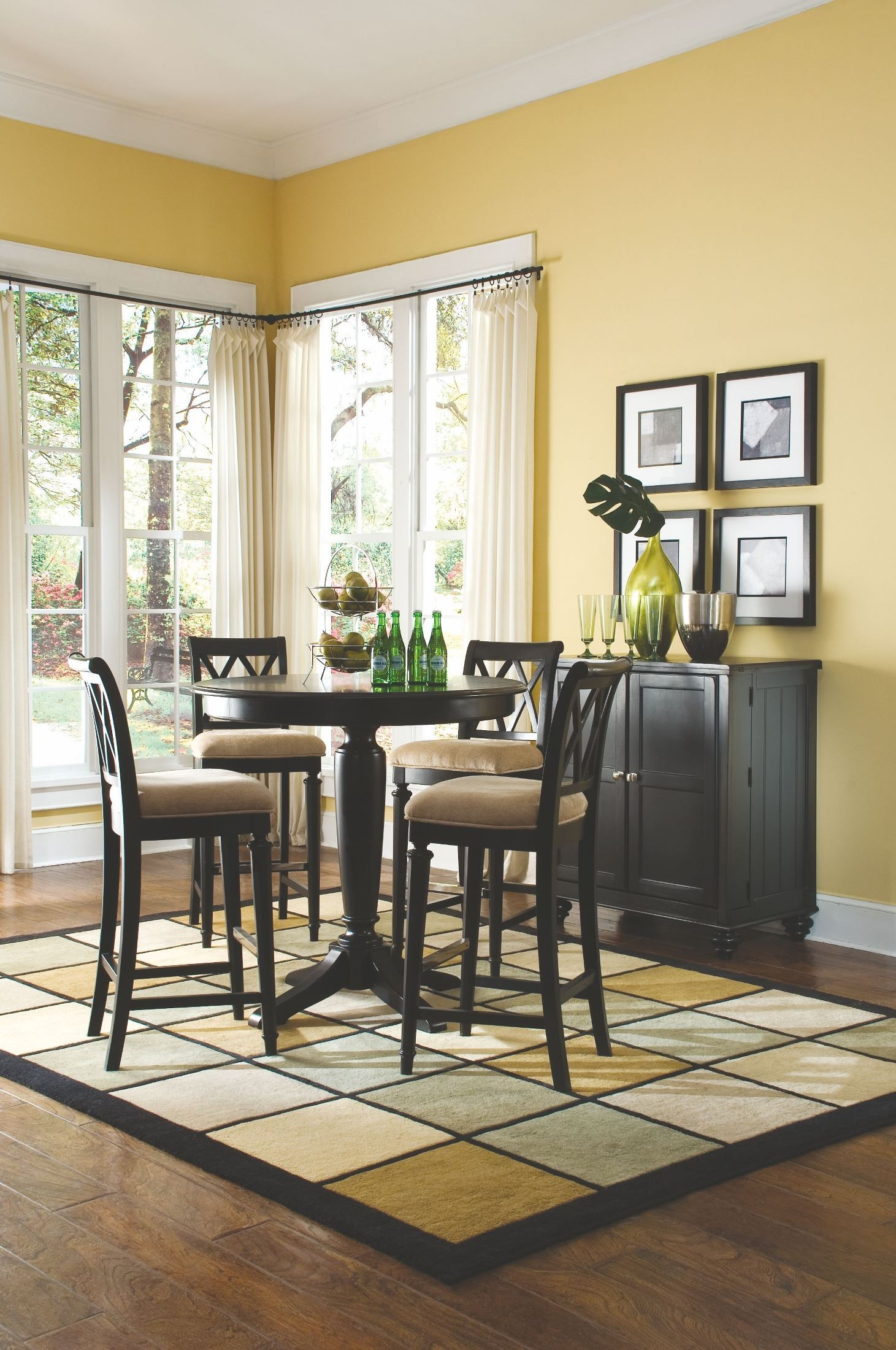 Camden Black Round Counter Height Pedestal Dining Room Set In 2018 Charterville Counter Height Pedestal Dining Tables (View 11 of 15)
