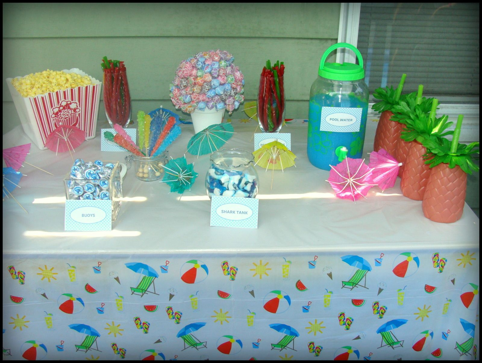 Candy Table, Pool Party Theme, Fun Theme Party, Kids With Current Candie  (View 5 of 15)
