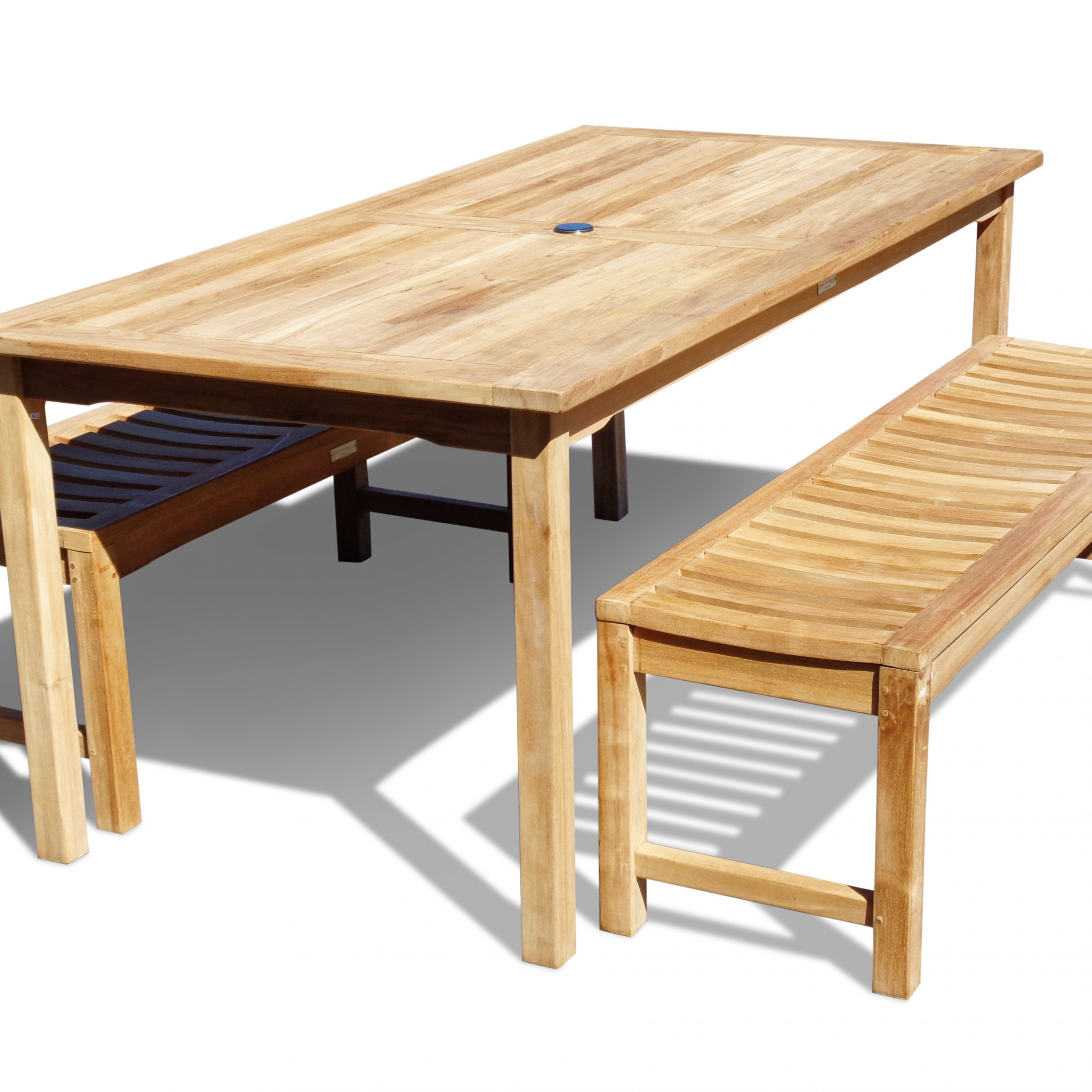 """Cannes 71"""" X 35"""" Rectangular Teak Dining Table W/2 59 Inside 2017 Adejah 35'' Dining Tables (Photo 9 of 15)"""