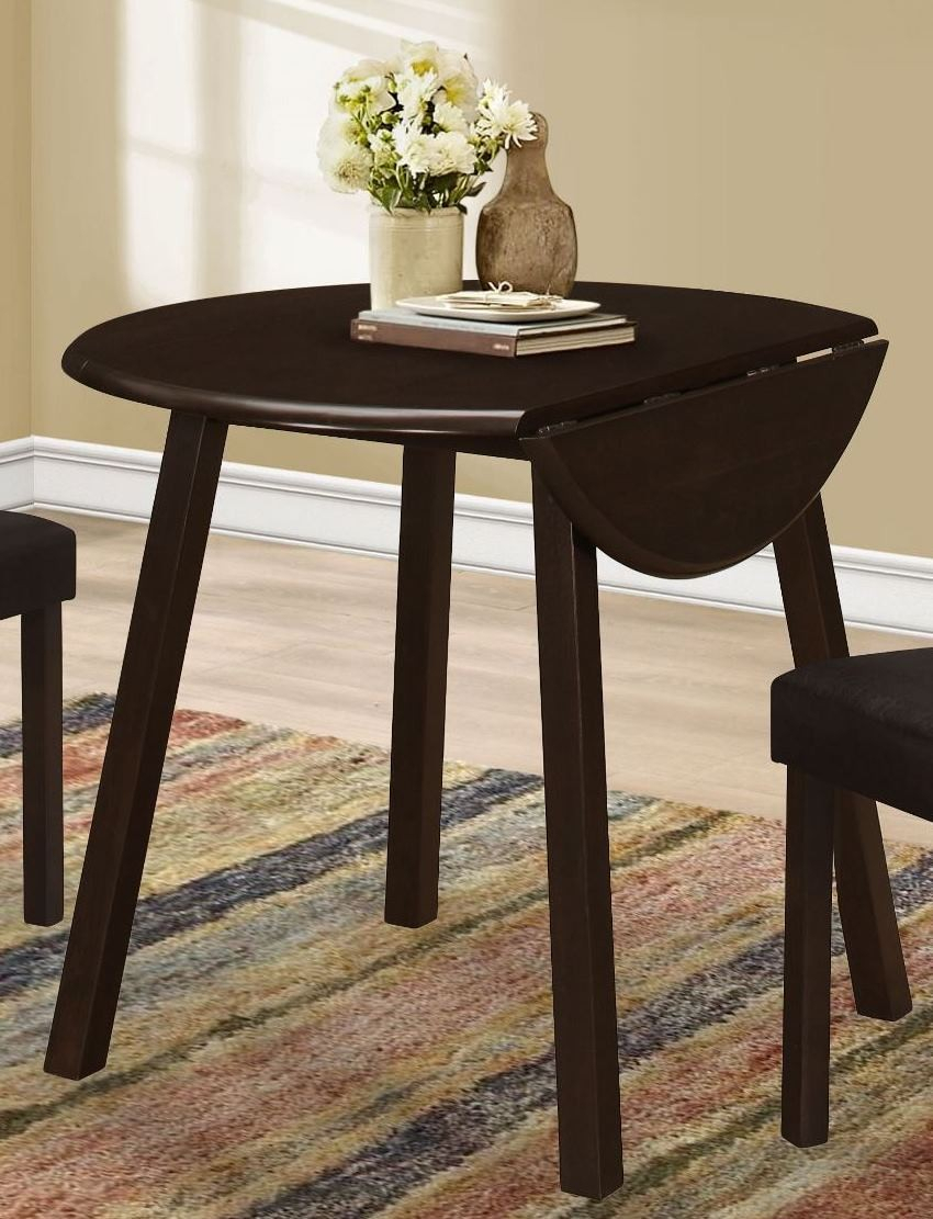 """Cappuccino 36"""" Round Dining Table From Monarch 