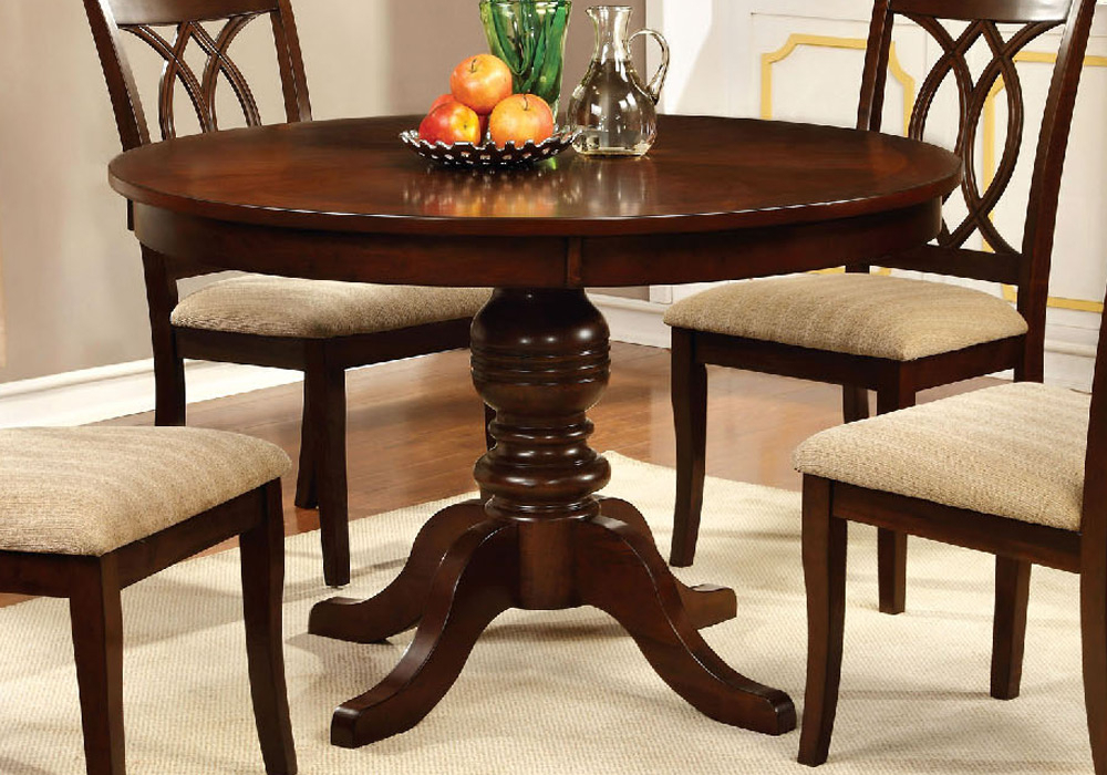 """Carlisle Country 48""""D Round Pedestal Dining Table Solid With Latest Exeter 48'' Pedestal Dining Tables (Photo 15 of 15)"""
