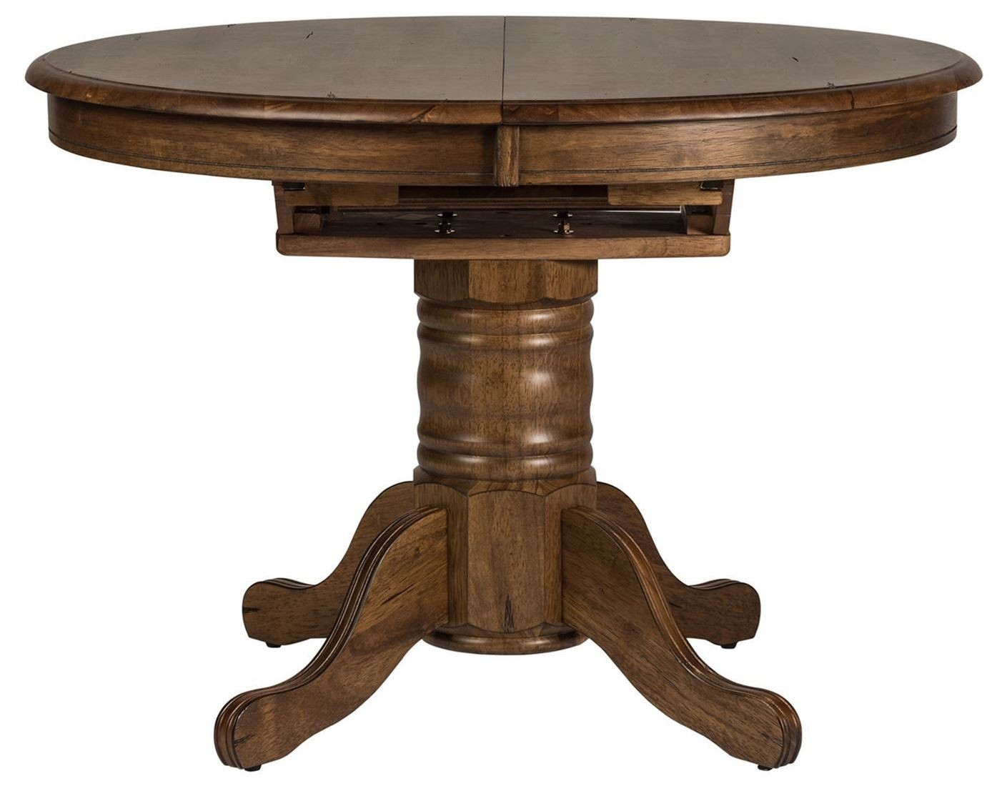 Carolina Crossing Antique Honey Oval Extendable Pedestal Throughout Latest Serrato Pedestal Dining Tables (View 2 of 15)