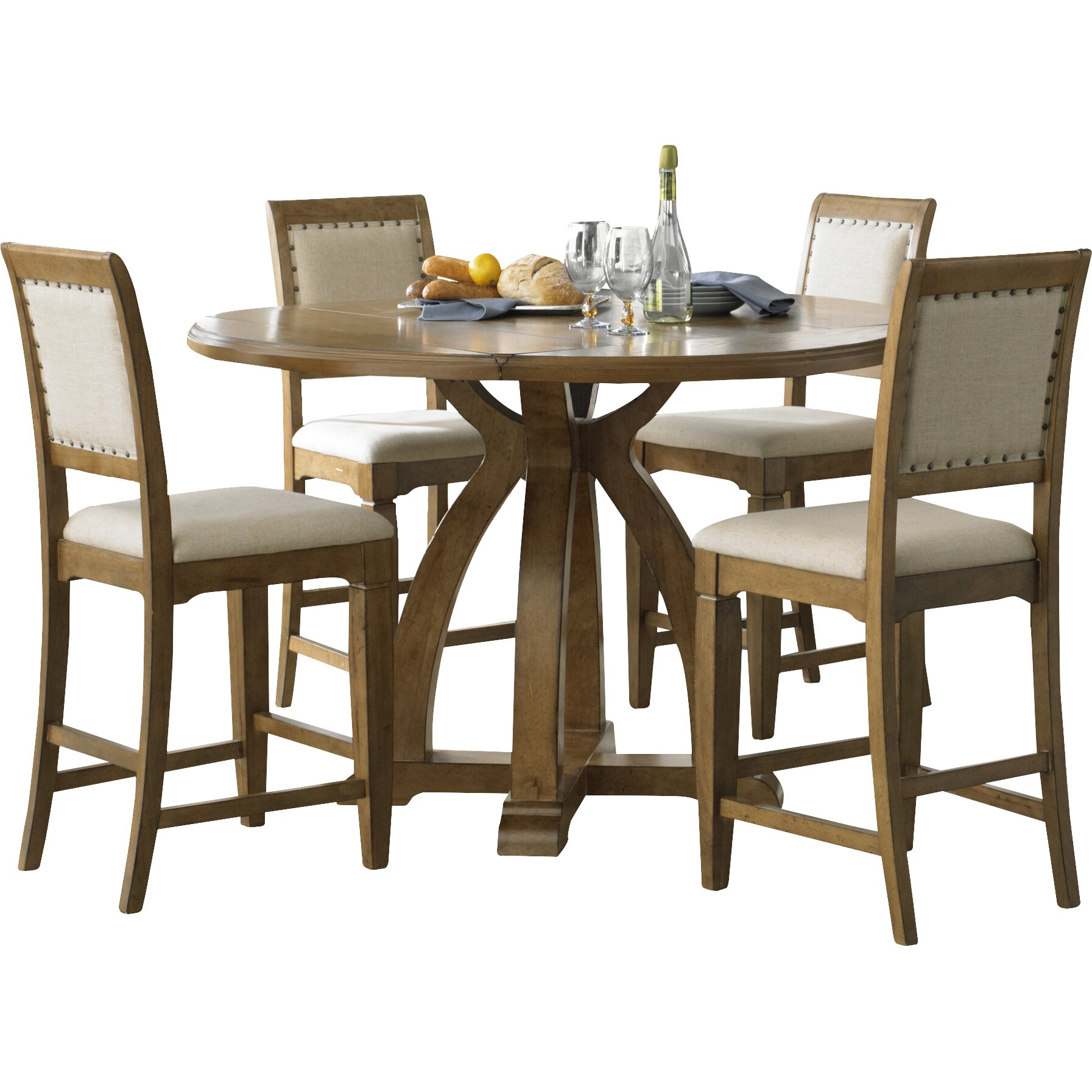 Carrie Dining Counter Height Table Base | Wayfair With Regard To Current Nakano Counter Height Pedestal Dining Tables (View 11 of 15)